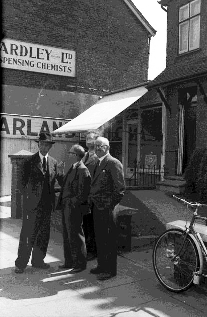 Outside Adams Funeral Directors circa 1950s