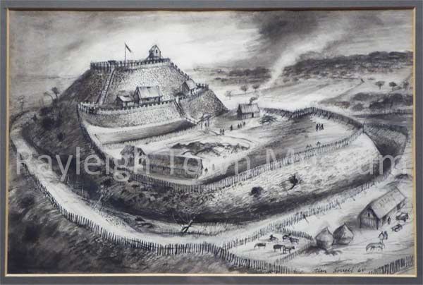 Picture of Rayleigh Castle by Alan Sorrell