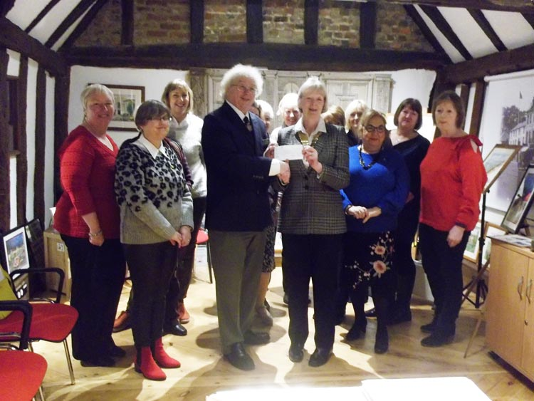 cheque presentation from Rayleigh and District Ladies Circle and Tangent Clubs